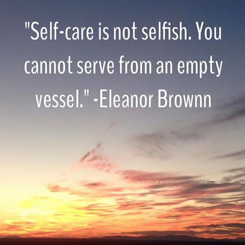 selfcare not selfish