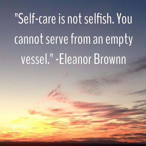 selfcare not selfish